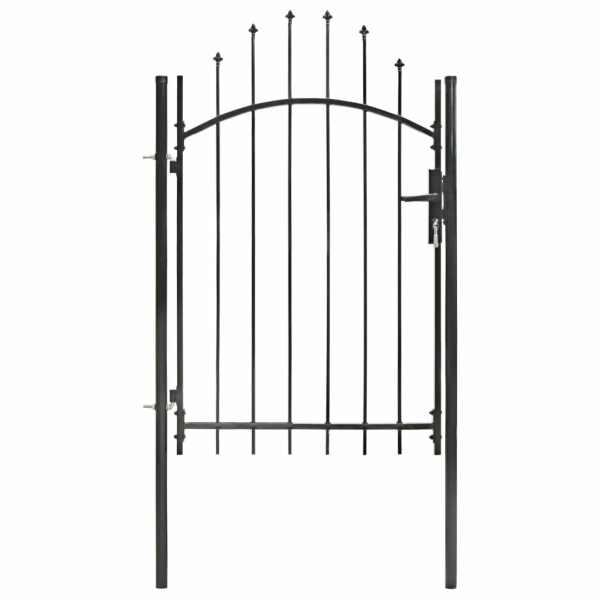 vidaXL Poartă de grădină, negru, 1 x 2 m, oțel