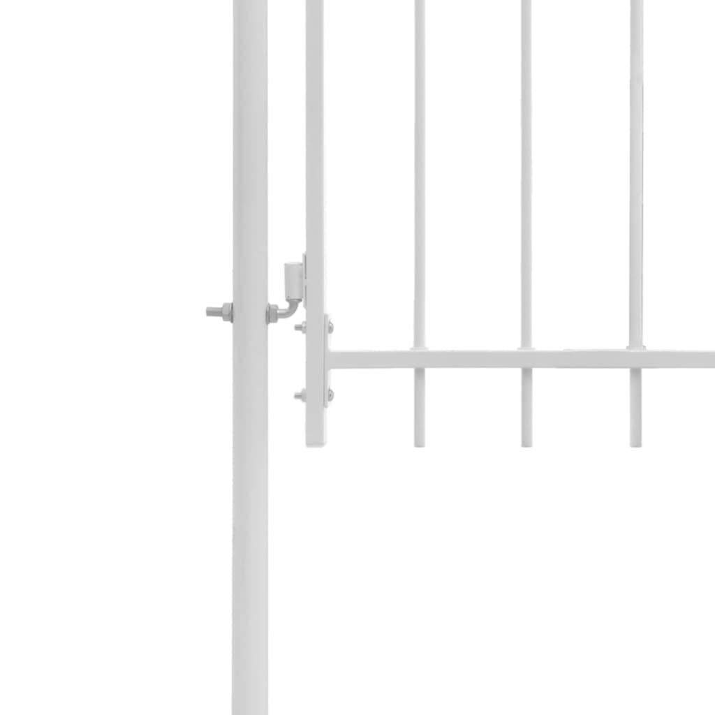 vidaXL Poartă de grădină, alb, 1 x 2 m, oțel