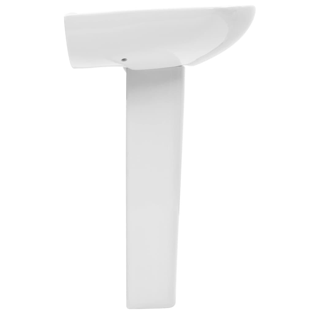 Lavoar cu piedestal, alb, 650 x 520 x 200 mm, ceramică