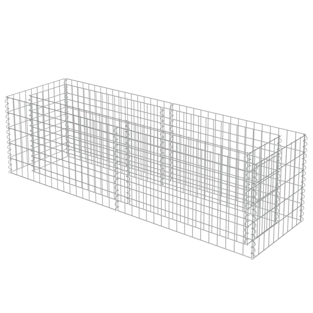 vidaXL Strat înălțat gabion, 180 x 50 x 50 cm, oțel galvanizat