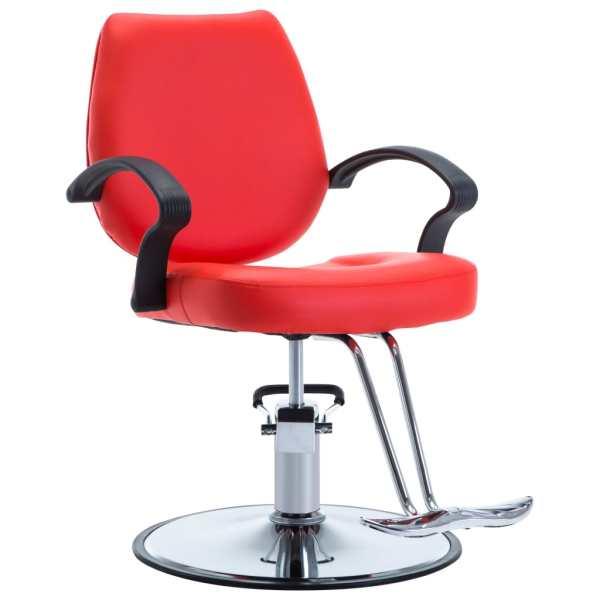 vidaXL Scaun frizer, piele ecologică, roșu