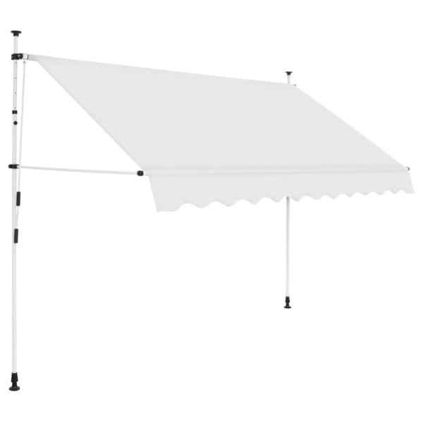 vidaXL Copertină retractabilă manual, crem, 300 cm
