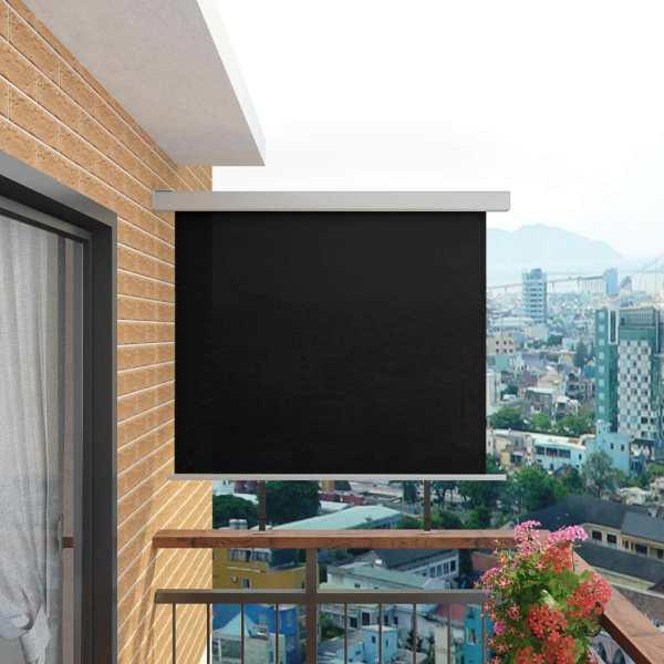 vidaXL Copertină laterală multifuncțională balcon, negru, 150×200 cm