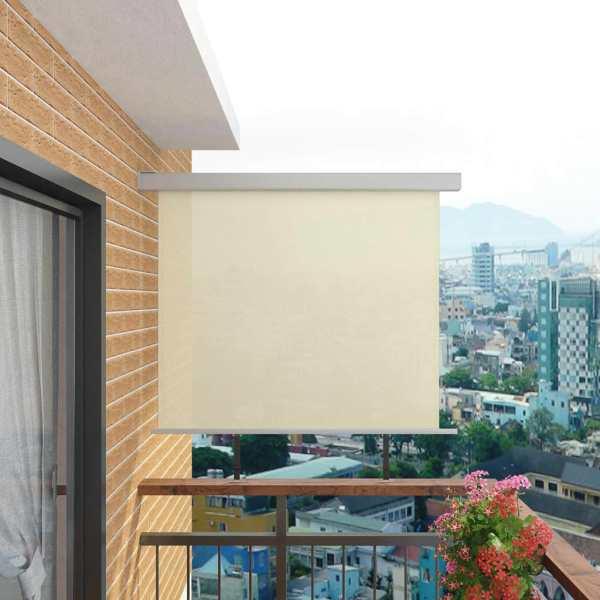 vidaXL Copertină laterală multifuncțională balcon, crem, 150 x 200 cm