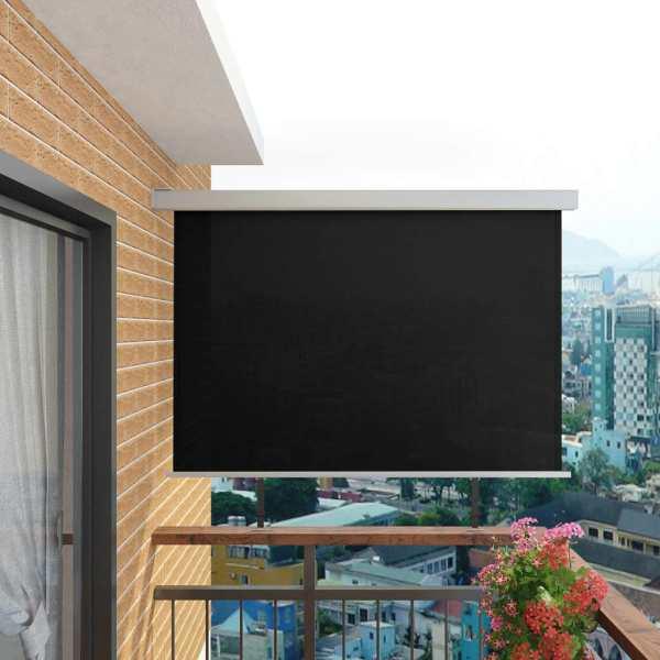 vidaXL Copertină laterală multifuncțională balcon, negru, 180×200 cm