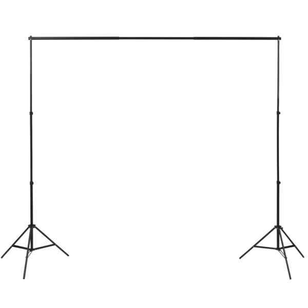 vidaXL Kit studio foto cu 3 decoruri și ramă ajustabilă, 3 x 3 m