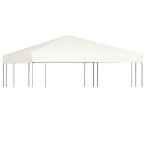 vidaXL Acoperiș de pavilion, 310 g/m², alb crem, 3 x 3 m