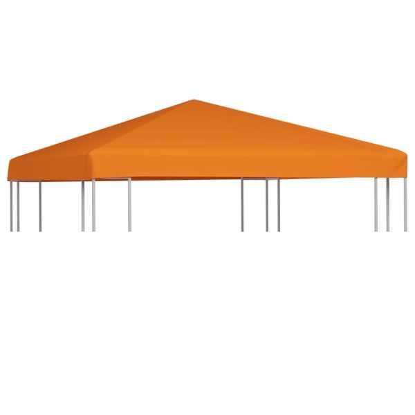 vidaXL Acoperiș de pavilion, 310 g/m², portocaliu, 3 x 3 m