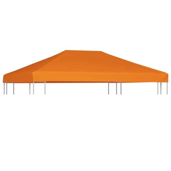 vidaXL Acoperiș de pavilion, 310 g/m², portocaliu, 4 x 3 m
