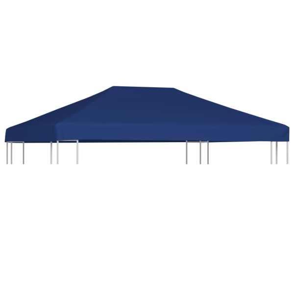 vidaXL Acoperiș de pavilion, 310 g/m², albastru, 4 x 3 m