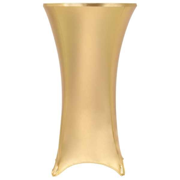 vidaXL Huse elastice de masă, 2 buc., auriu, 70 cm