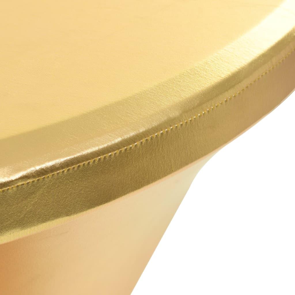 vidaXL Huse elastice de masă, 2 buc., auriu, 80 cm