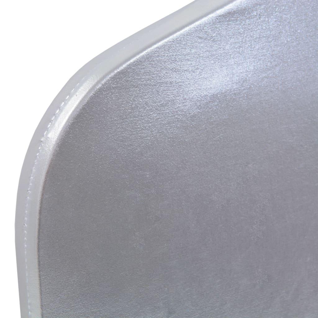 vidaXL Huse elastice pentru scaun, 6 buc., argintiu