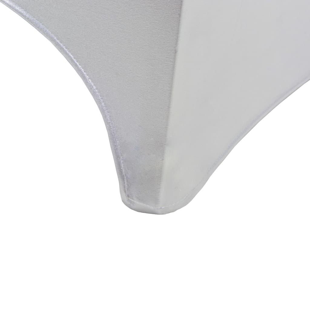 vidaXL Huse elastice pentru scaun, 4 buc., argintiu