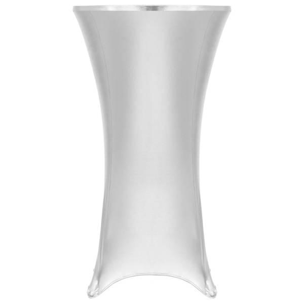 vidaXL Huse elastice de masă, 2 buc., argintiu, 80 cm