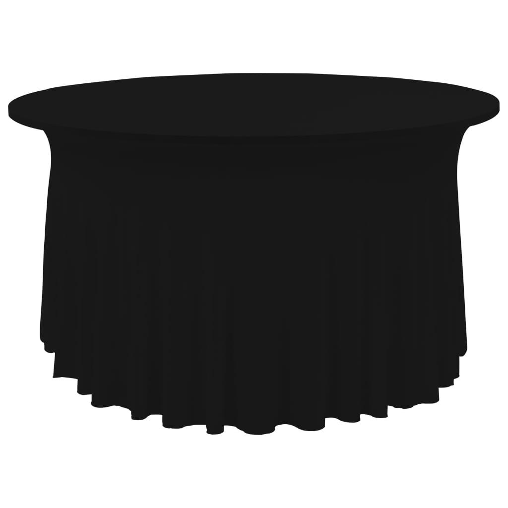 vidaXL Huse elastice de masă lungi, 2 buc., negru, 180×74 cm
