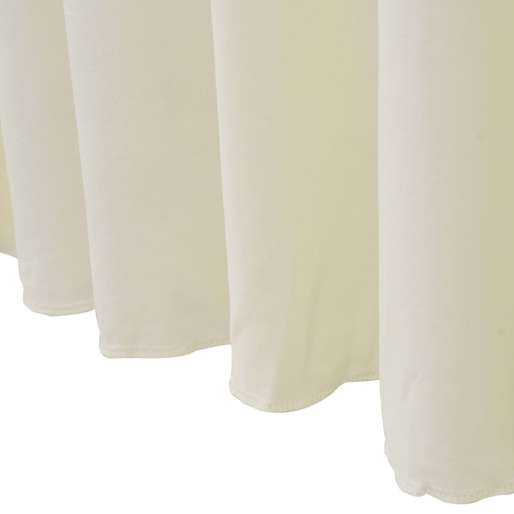 vidaXL Huse elastice masă lungi, 2 buc., crem, 183 x 76 x 74 cm