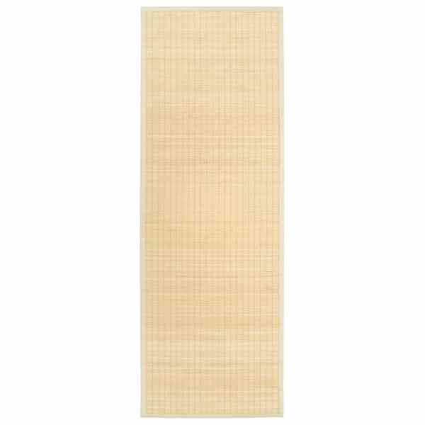 vidaXL Covoraș de yoga, bambus, culoare naturală, 60 x 180 cm
