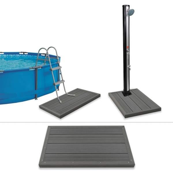 vidaXL Element de podea pentru duș solar sau scară piscină, WPC