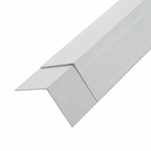 vidaXL Margini cornier pentru podea 5 buc. argintiu 170 cm aluminiu