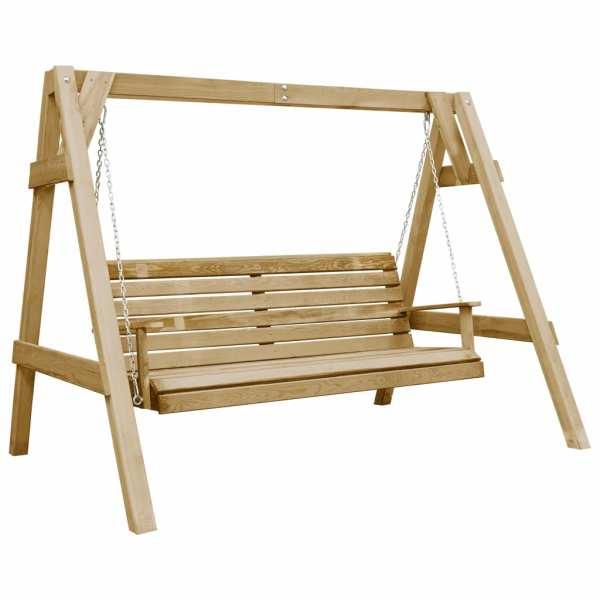 vidaXL Balansoar de grădină, 205 x 150 x 157 cm, lemn de pin tratat