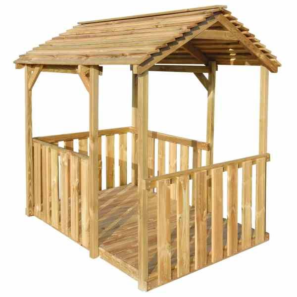 Căsuță de joacă de exterior, 122,5 x 160 x 163 cm, lemn de pin