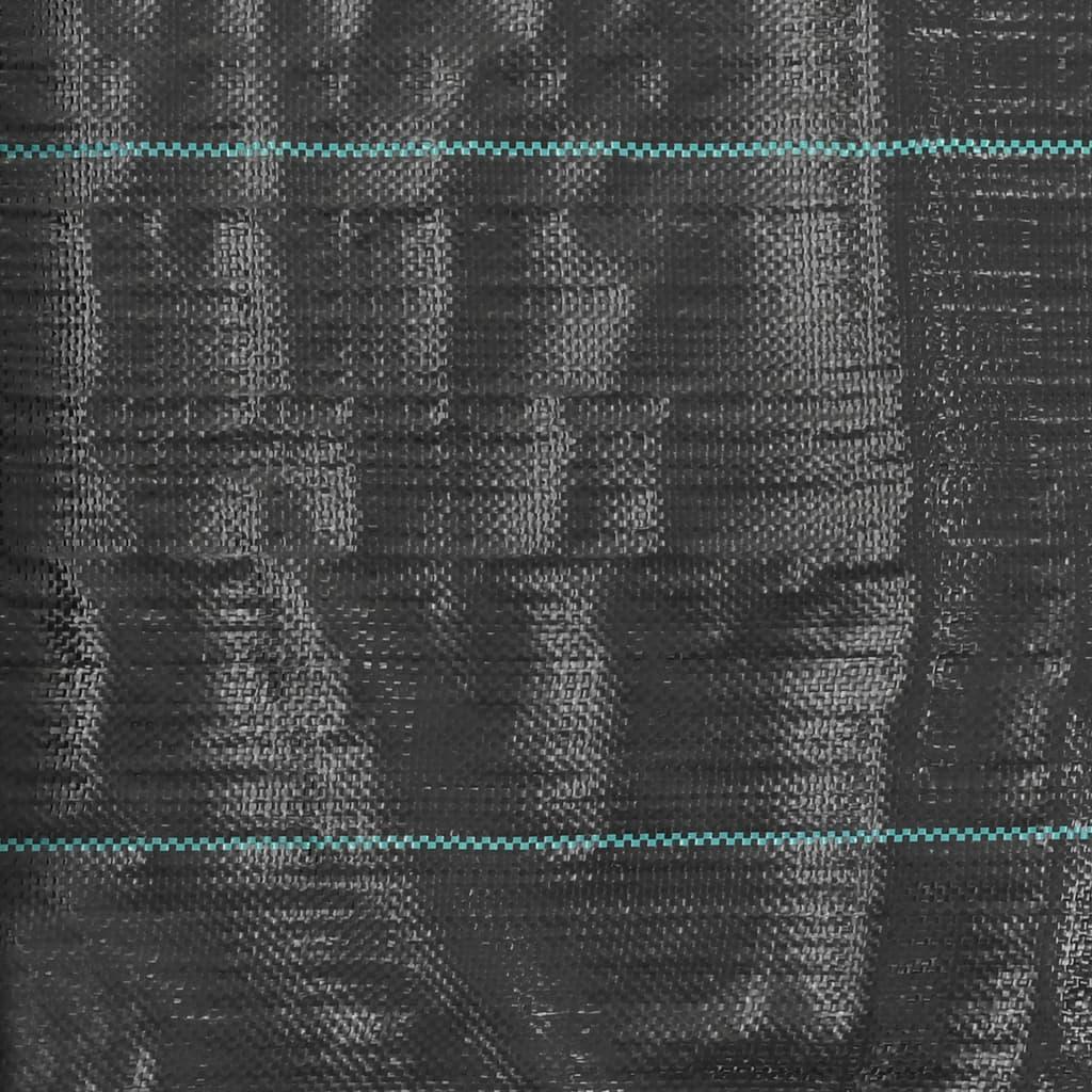 vidaXL Membrană antiburuieni & antirădăcini, negru, 2 x 10 m, PP