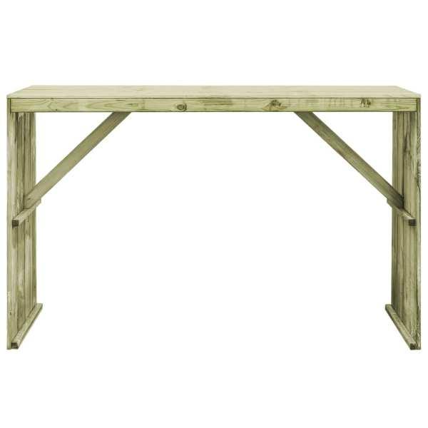 vidaXL Masă de bar, 170 x 60 x 110 cm, lemn de pin tratat