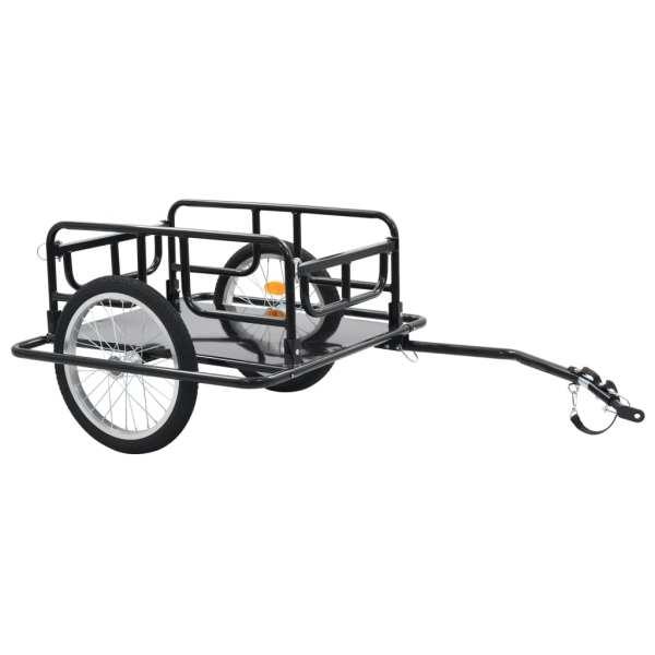 vidaXL Remorcă de bicicletă, negru, 130 x 73 x 48,5 cm, oțel