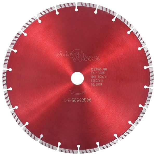 vidaXL Disc diamantat de tăiere cu turbo, oțel, 300 mm
