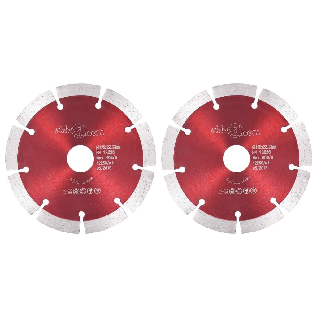 vidaXL Discuri diamantate de tăiere, 2 buc., oțel, 125 mm