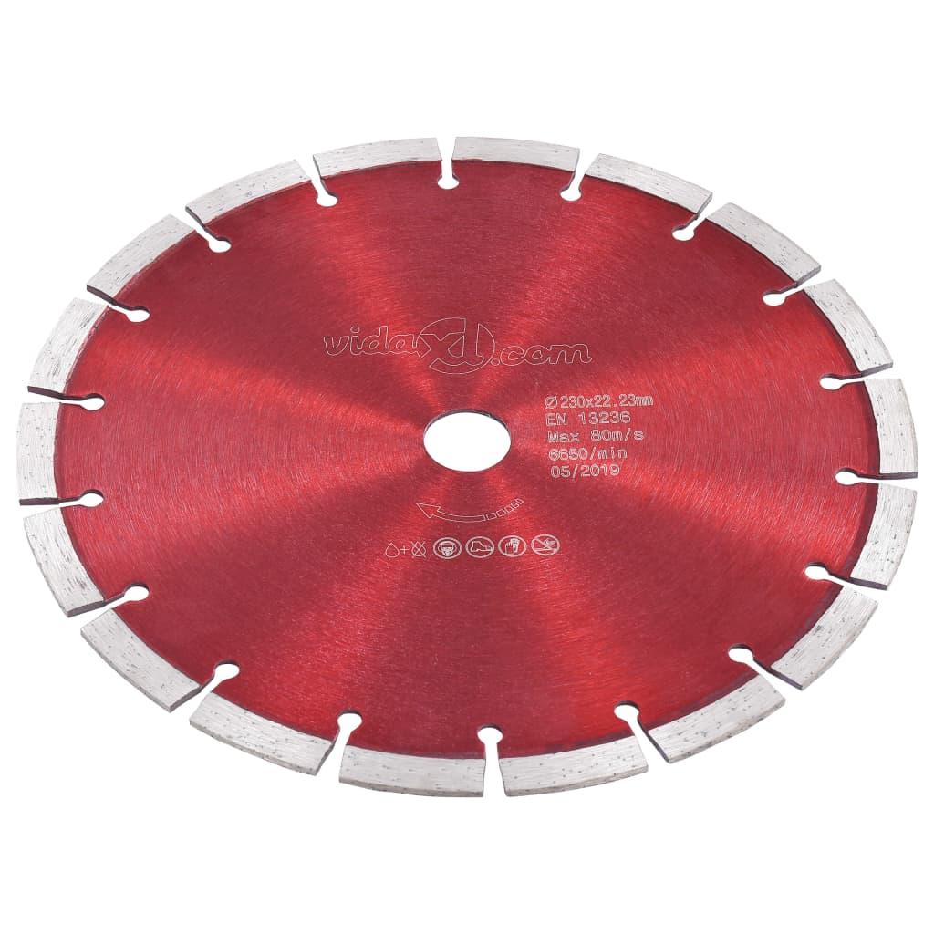 vidaXL Disc diamantat de tăiere, oțel, 230 mm