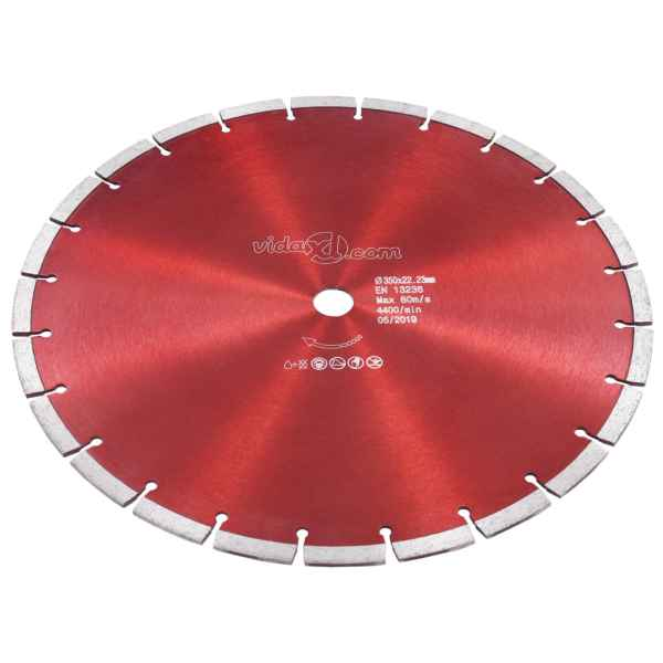 vidaXL Disc diamantat de tăiere, oțel, 350 mm
