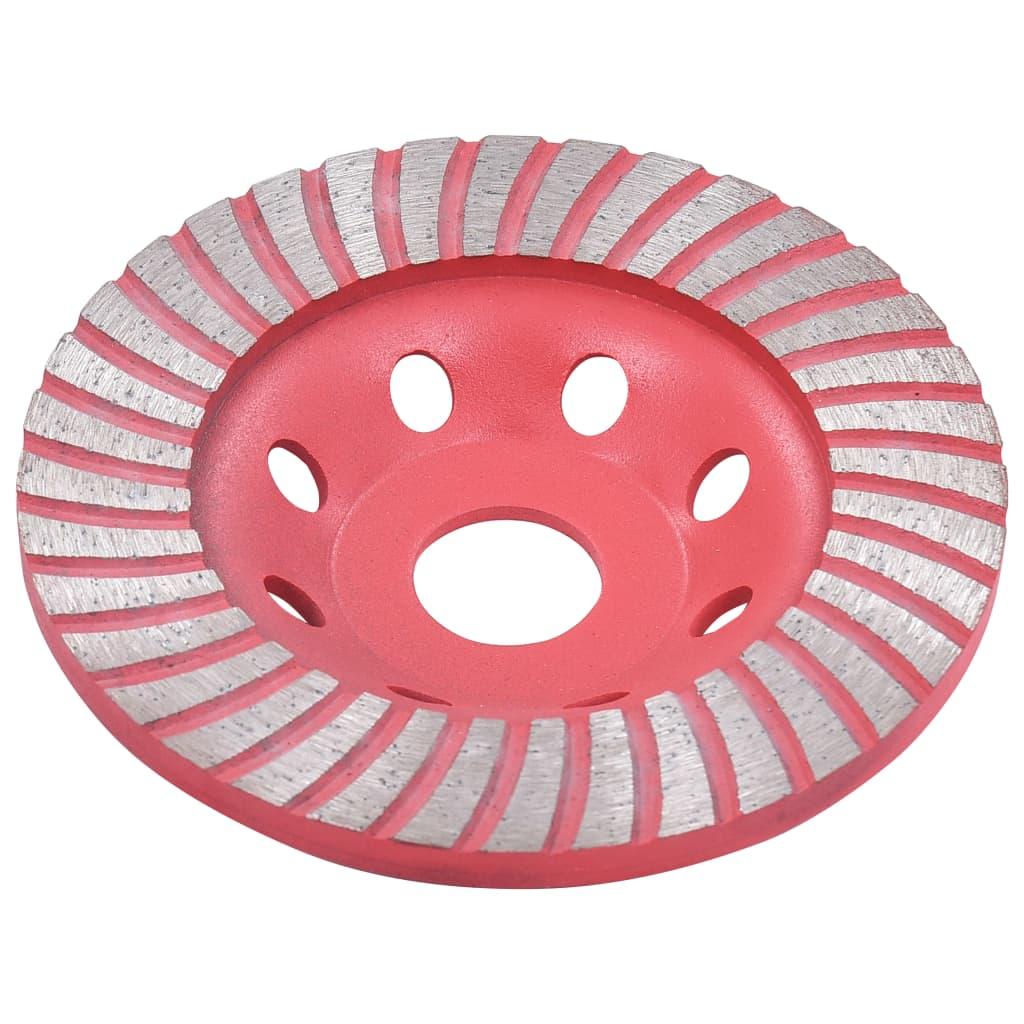 Disc de polizare diamantat tip cupă, cu turbo, 115 mm