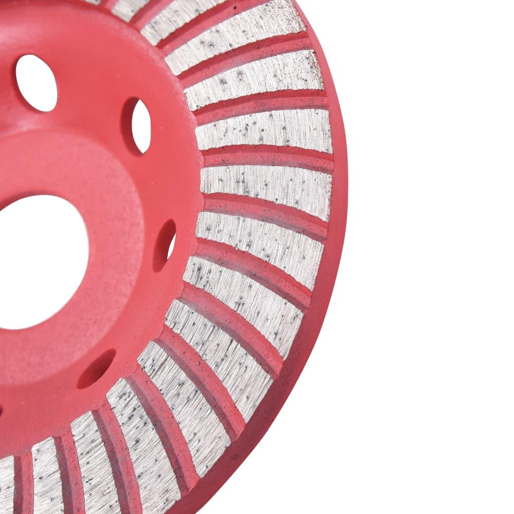 Disc de polizare diamantat tip cupă, cu turbo, 125 mm
