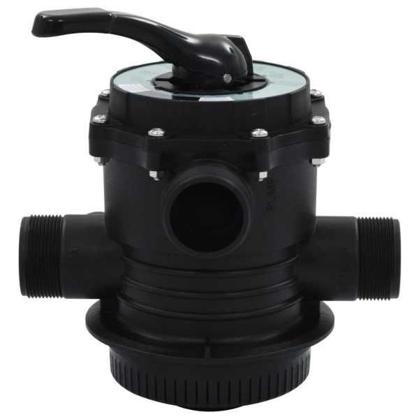Supapă multiport pentru filtre cu nisip, ABS, 1,5″, 6 căi