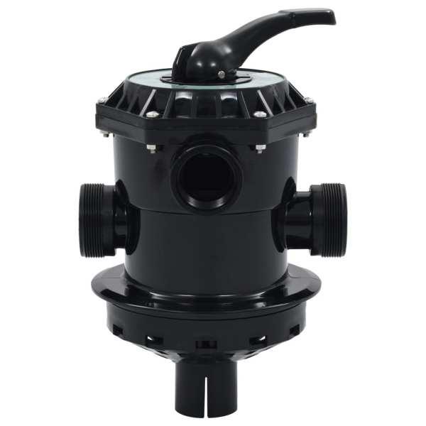 Supapă multiport pentru filtre cu nisip ABS 1,5″ 6 căi