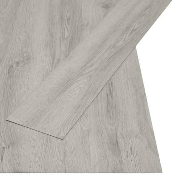 Plăci autoadezive pardoseală gri deschis PVC 4,46 m² 3 mm