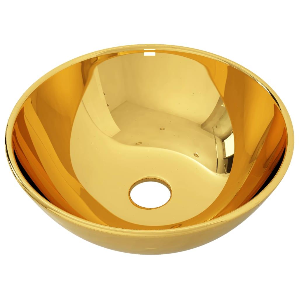 Chiuvetă de baie, auriu, 28 x 10 cm, ceramică