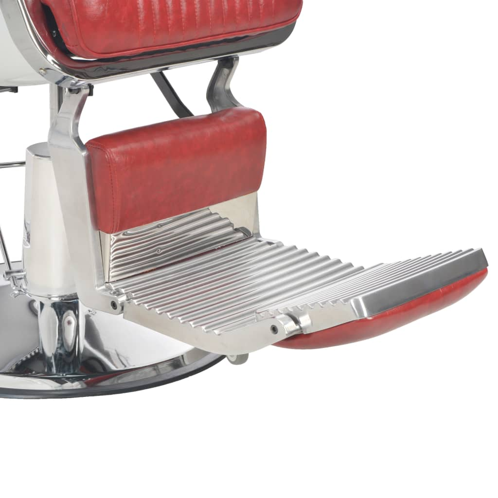 vidaXL Scaun de frizer, roșu, 68 x 69 x 116 cm, piele ecologică