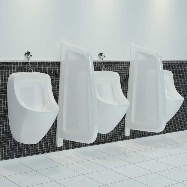 vidaXL Paravan protecție pisoar cu montaj în perete alb ceramică