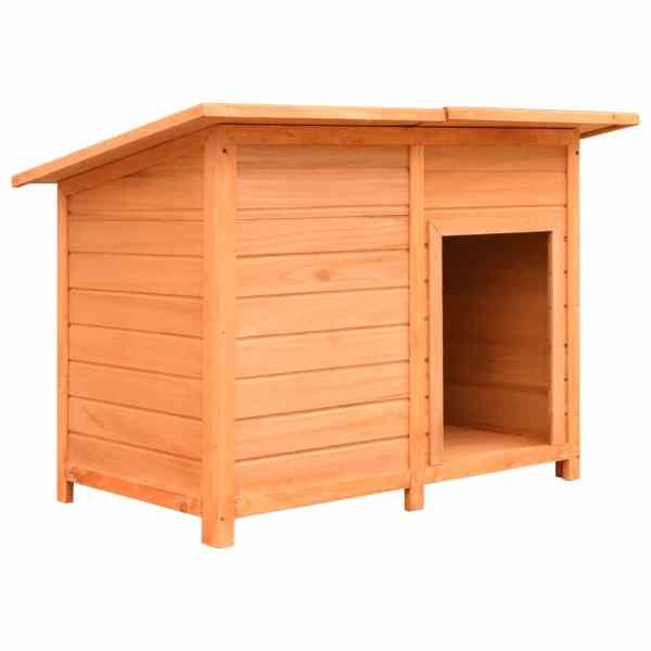 vidaXL Cușcă de câine, 120 x 77 x 86 cm, lemn masiv de pin și brad