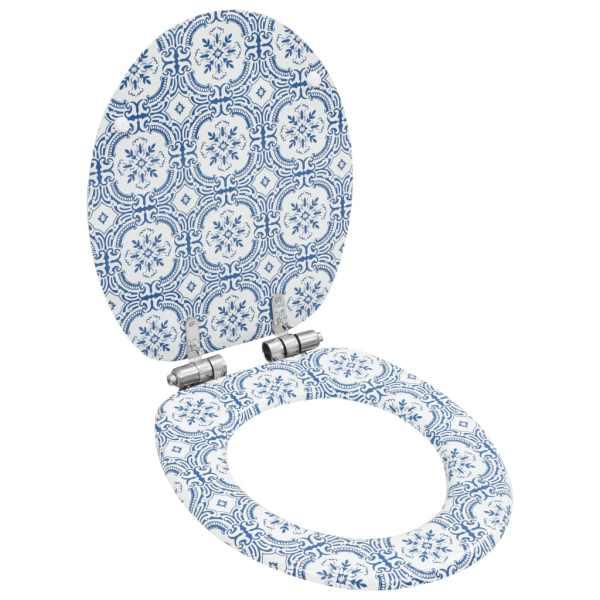 vidaXL Capac WC cu închidere silențioasă, MDF, design porțelan
