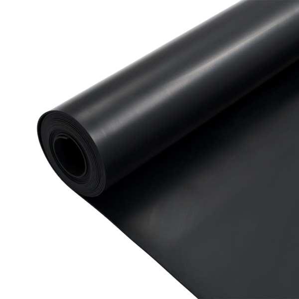 Covor de cauciuc anti-alunecare, 1,2 x 5 m, 2 mm, neted