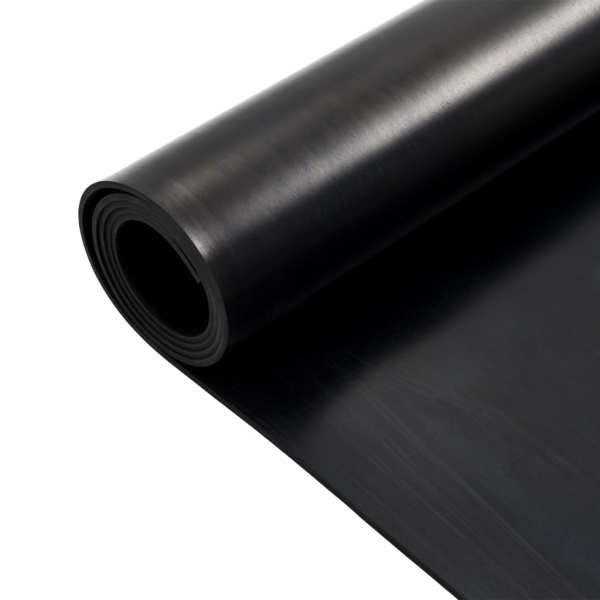 Covor de cauciuc anti-alunecare, 1,2 x 2 m, 4 mm, neted