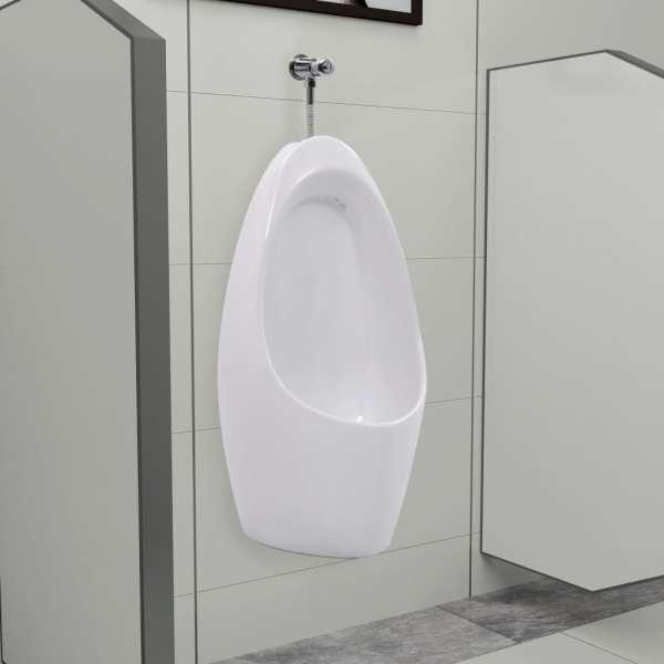 vidaXL Pisoar de perete cu sistem pentru spălare, ceramică