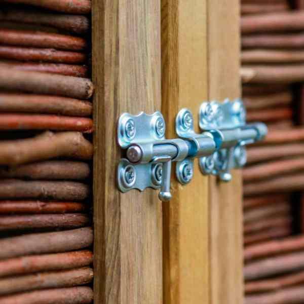 Magazie de pubele cvadruplă, lemn de pin și răchită