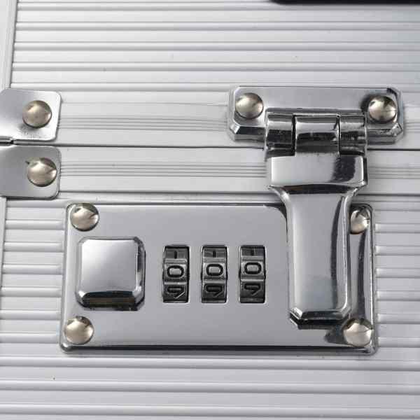 vidaXL Troler de pilot, 54 x 44 x 21 cm, argintiu, aluminiu