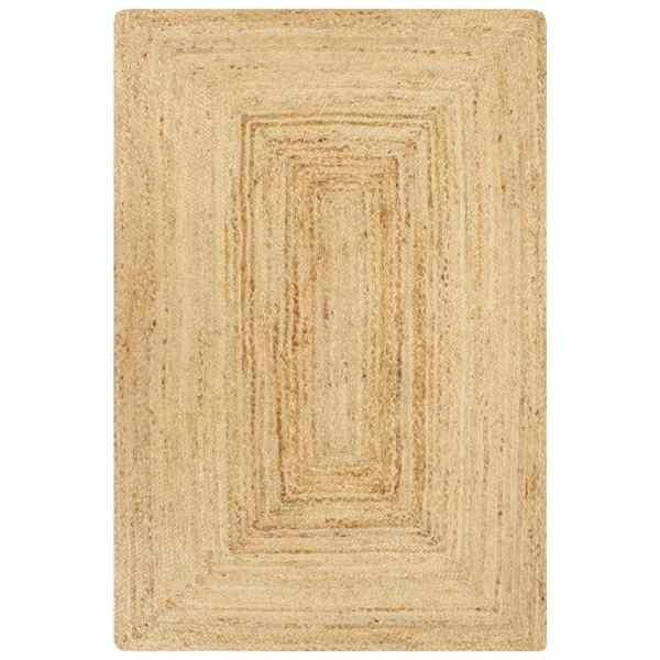 vidaXL Covor manual, natural, 80 x 160 cm, iută