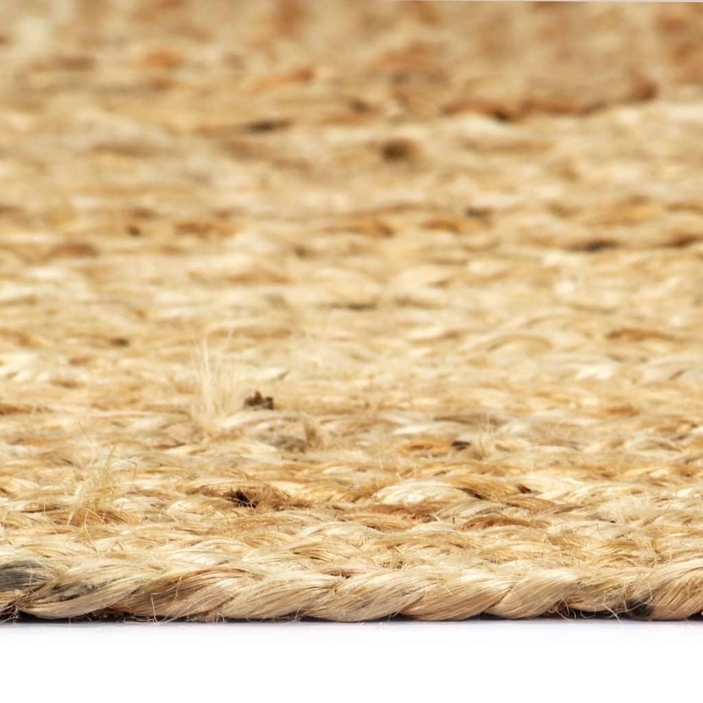 Covor manual, natural, 80 x 160 cm, iută